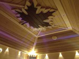 Отделка потолка бани