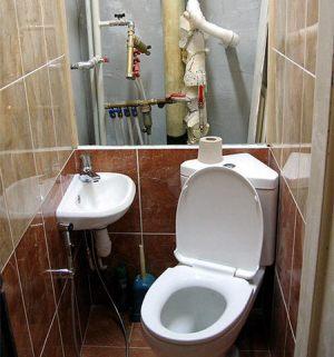 Скрытие труб в туалете